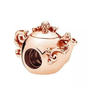 MY LITTLE SHORT & STOUT ROSE GOLD TEAPOT CHARM